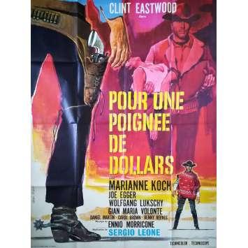POUR UNE POIGNEE DE DOLLARS Affiche de film 120x160 R1970, Sergio Leone Clint Eastwood western spaghetti