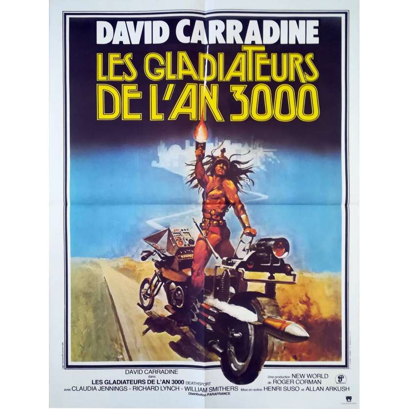DEATHSPORT French Movie Poster 23x32 FR '77 David Carradine