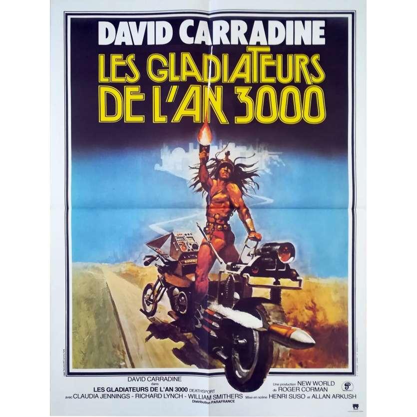GLADIATEURS DE L'AN 3000 Affiche 60x80 FR '77 David Carradine Movie Poster