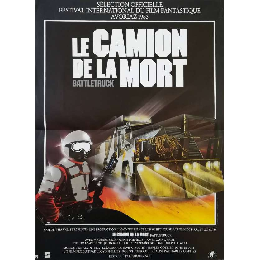 BLUE THUNDER French One Panel 15x21 '83 Badham, Roy Sheider, Movie Poster
