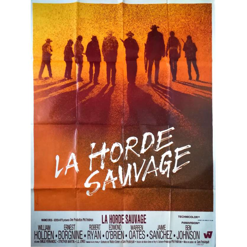 LA HORDE SAUVAGE Affiche de film - 120x160 cm. - 1969 - Robert Ryan, Sam Peckinpah