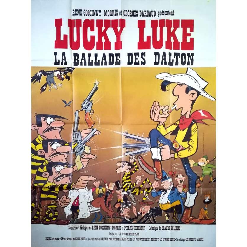 LUCKY LUKE, BALLAD OF THE DALTONS Original Movie Poster - 47x63 in. - 1978 - René Goscinny, Roger Carel