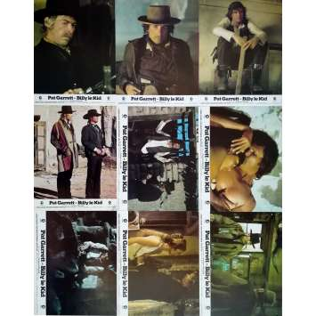 PAT GARRET AND BILLY THE KID Original Lobby Cards x9 - 9x12 in. - 1973 - Sam Peckinpah, Bob Dylan