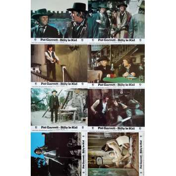 PAT GARRET AND BILLY THE KID Original Lobby Cards x8 - 9x12 in. - 1973 - Sam Peckinpah, Bob Dylan
