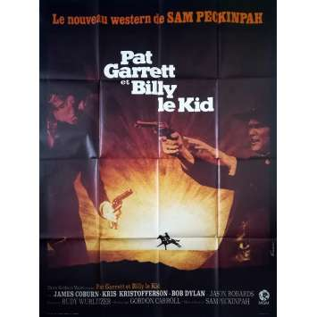 PAT GARRETT ET BILLY LE KID Affiche de film - 120x160 cm. - 1973 - Bob Dylan, Sam Peckinpah