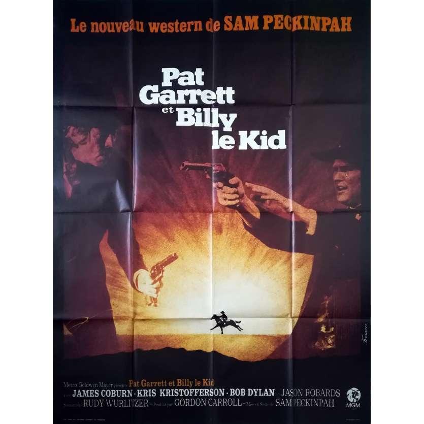 PAT GARRET AND BILLY THE KID Original Movie Poster - 47x63 in. - 1973 - Sam Peckinpah, Bob Dylan
