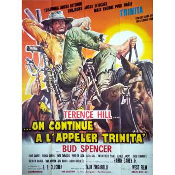 ON CONTINUE A L'APPELER TRINITA Affiche de film - 120x160 cm. - 1971 - Terence Hill, Bud Spencer, Enzo Barboni