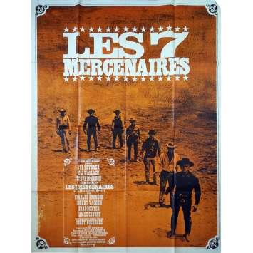 LES 7 MERCENAIRES Affiche de film - 120x160 cm. - 1960 - Steve McQueen, John Sturges