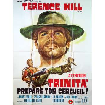 DJANGO PREPARE A COFFIN Original Movie Poster - 32x47 in. - 1968 - Fernandino Baldi, Terence Hill