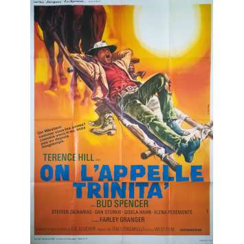 ON L'APPELLE TRINITA Affiche de film - 120x160 cm. - R1980 - Terence Hill, Bud Spencer, Enzo Barboni
