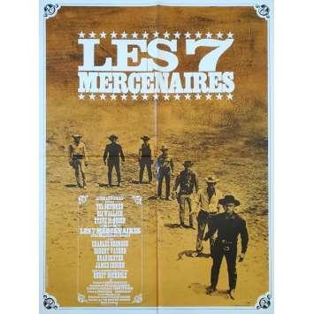 LES 7 MERCENAIRES Affiche de film - 60x80 cm. - 1960 - Steve McQueen, John Sturges