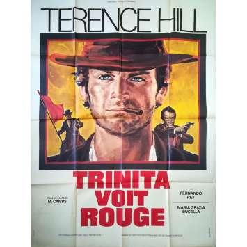 TRINITA VOIT ROUGE Affiche de film - 120x160 cm. - 1970 - Terence Hill, Mario Camus