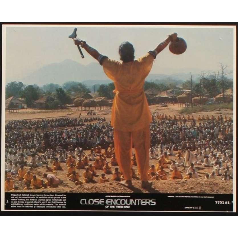 CLOSE ENCOUNTERS OF THE THIRD KIND 8x10 mini LC N1 '77 Steven Spielberg, Truffaut, Dreyfuss!