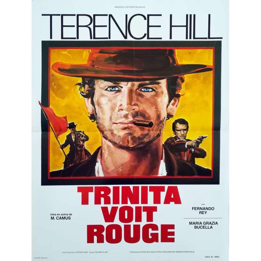 TRINITA VOIT ROUGE Affiche de film - 40x60 cm. - 1970 - Terence Hill, Mario Camus
