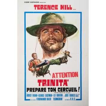 DJANGO PREPARE A COFFIN Original Herald - 12x15 in. - 1968 - Fernandino Baldi, Terence Hill