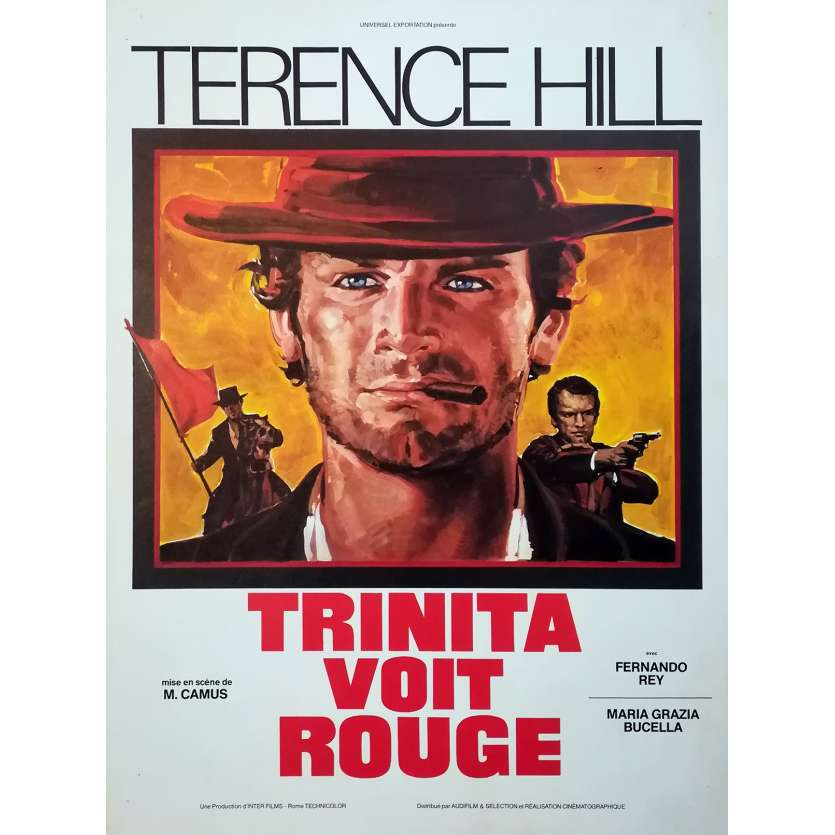 TRINITA VOIT ROUGE Synopsis 4p - 24x30 cm. - 1970 - Terence Hill, Mario Camus