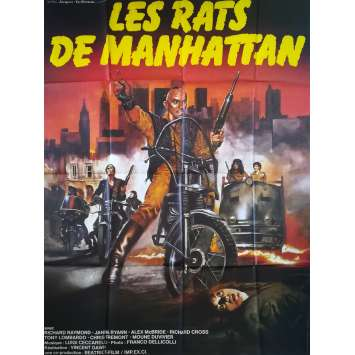 LES RATS DE MANHATTAN Affiche de film - 120x160 cm. - 1984 - Massimo Vanni, Bruno Mattei