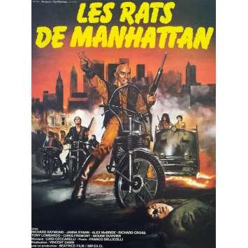 RATS Original Movie Poster - 15x21 in. - 1984 - Bruno Mattei, Massimo Vanni