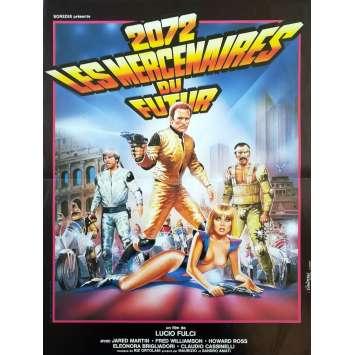 2072 LES MERCENAIRES DU FUTUR Affiche de film - 40x60 cm. - 1983 - Fred Williamson, Lucio Fulci
