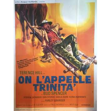 ON L'APPELLE TRINITA Affiche de film - 120x160 cm. - 1970 - Terence Hill, Bud Spencer, Enzo Barboni
