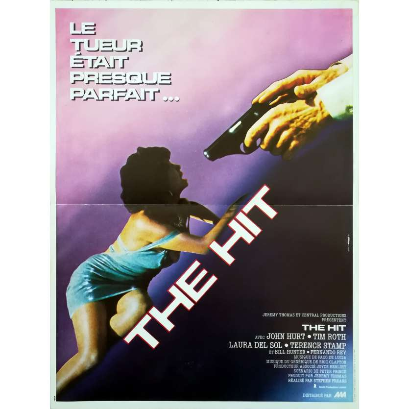 THE HIT French Movie Poster 15x21 - 1984 - Stephen Frears, John Hurt