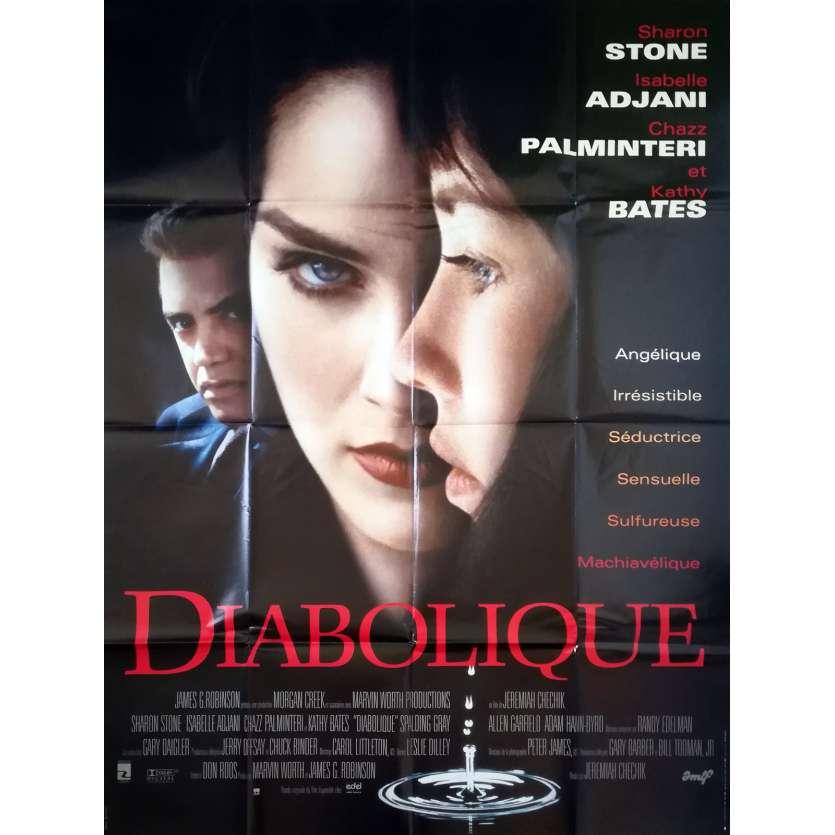 DIABOLIQUE Affiche de film 120x160 - 1996 - Sharon Stone, Jeremiah S. Chechik