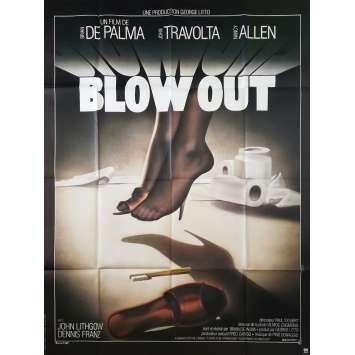 BLOW OUT Affiche de film 120x160 cm - 1981 - John Travolta, Brian de Palma