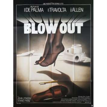BLOW OUT Movie Poster 47x63 in. French - 1981 - Brian de Palma, John Travolta