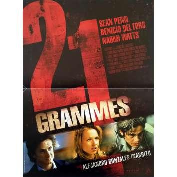 21 GRAMMES Affiche de film - 40x60 cm. - 2003 - Sean Penn, Alejandro G. Iñárritu
