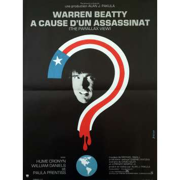A CAUSE D'UN ASSASSINAT Affiche de film - 40x60 cm. - 1974 - Warren Beatty, Alan J. Pakula