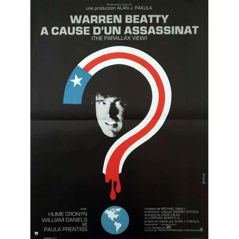 A CAUSE D'UN ASSASSINAT Affiche de film - 40x60 cm. - 1974 - Warren Beatty, Alan J. Pakula