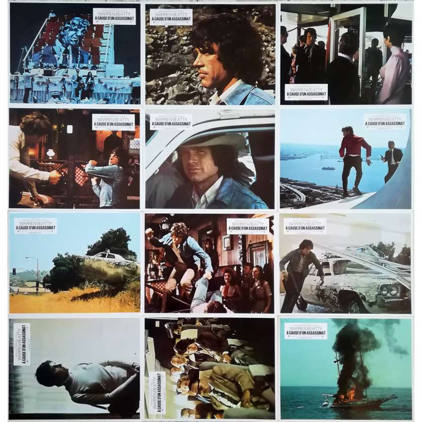 A CAUSE D'UN ASSASSINAT Photos de film x12 - 21x30 cm. - 1974 - Warren Beatty, Alan J. Pakula