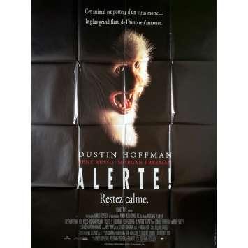 OUTBREAK Original Movie Poster - 47x63 in. - 1995 - Wolfgang Petersen, Dustin Hoffman
