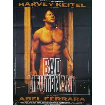 BAD LIEUTENANT Affiche de film - 120x160 cm. - 1992 - Harvey Keitel, Abel Ferrara