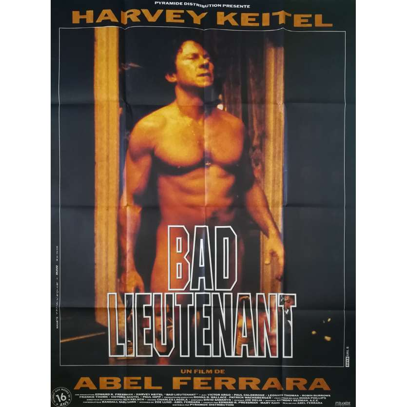 BAD LIEUTENANT Original Movie Poster - 47x63 in. - 1992 - Abel Ferrara, Harvey Keitel