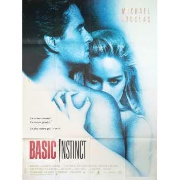 BASIC INSTINCT Affiche de film - 120x160 cm. - 1992 - Sharon Stone, Paul Verhoeven