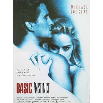 BASIC INSTINCT Original Movie Poster - 15x21 in. - 1992 - Paul Verhoeven, Sharon Stone