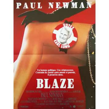 BLAZE Original Movie Poster - 15x21 in. - 1989 - Ron Shelton, Paul Newman