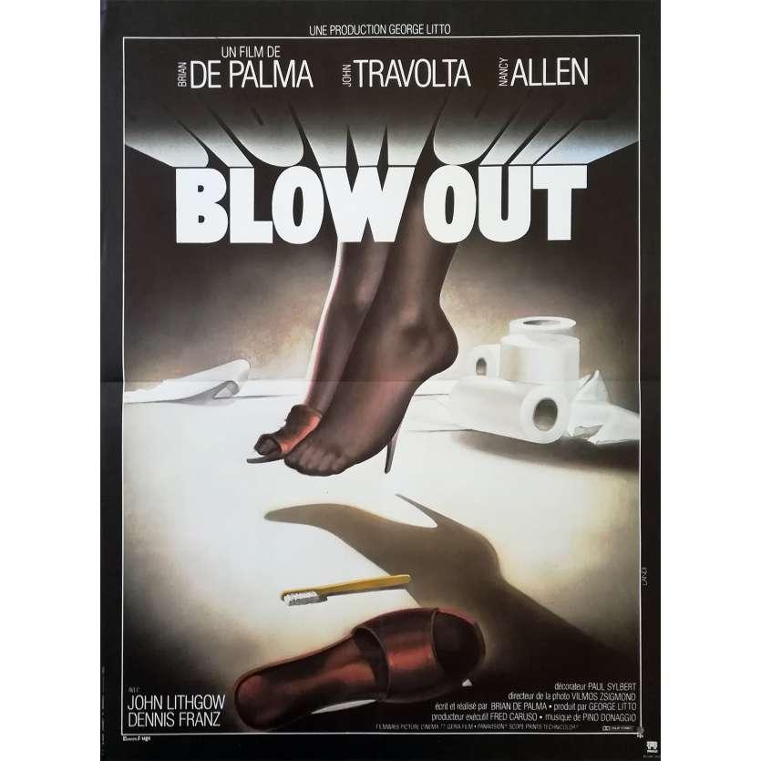 BLOW OUT Original Movie Poster - 15x21 in. - 1981 - Brian de Palma, John Travolta
