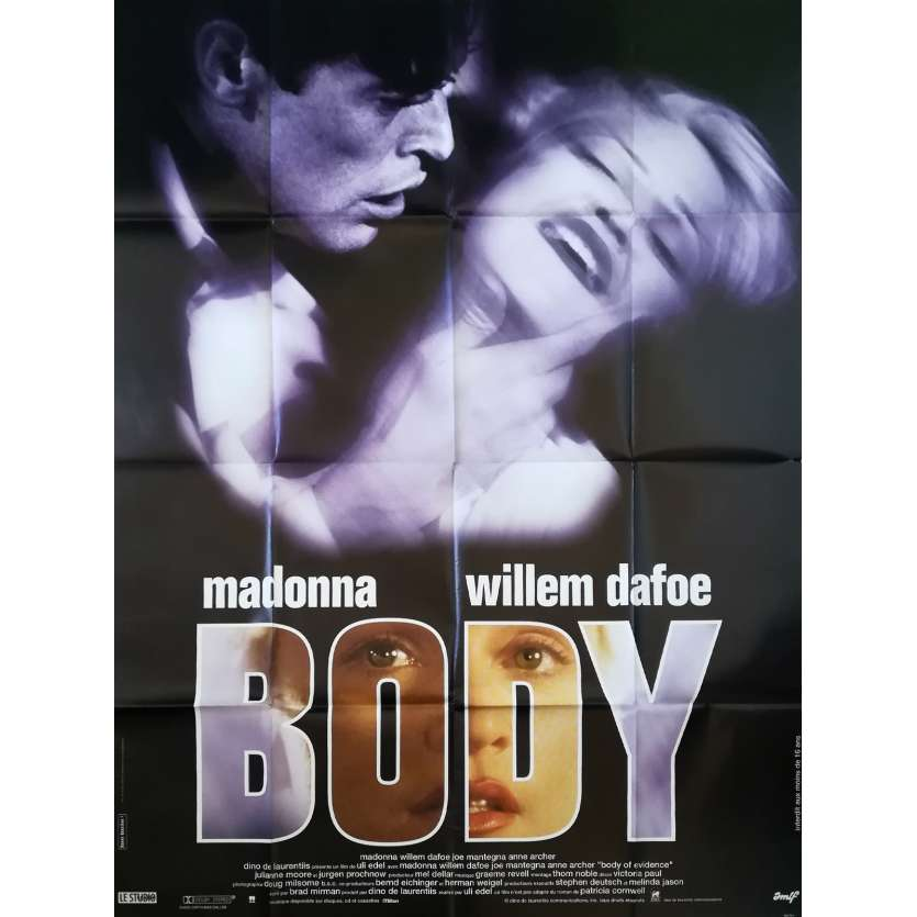 BODY Affiche de film - 120x160 cm. - 1993 - Madonna, Willem Dafoe, Uli Edel