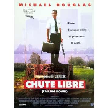 CHUTE LIBRE Affiche de film - 40x60 cm. - 1993 - Michael Douglas, Joel Shumacher