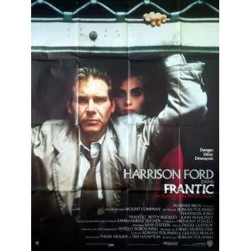 FRANTIC Affiche de film - 120x160 cm. - 1988 - Harrison Ford, Roman Polanski
