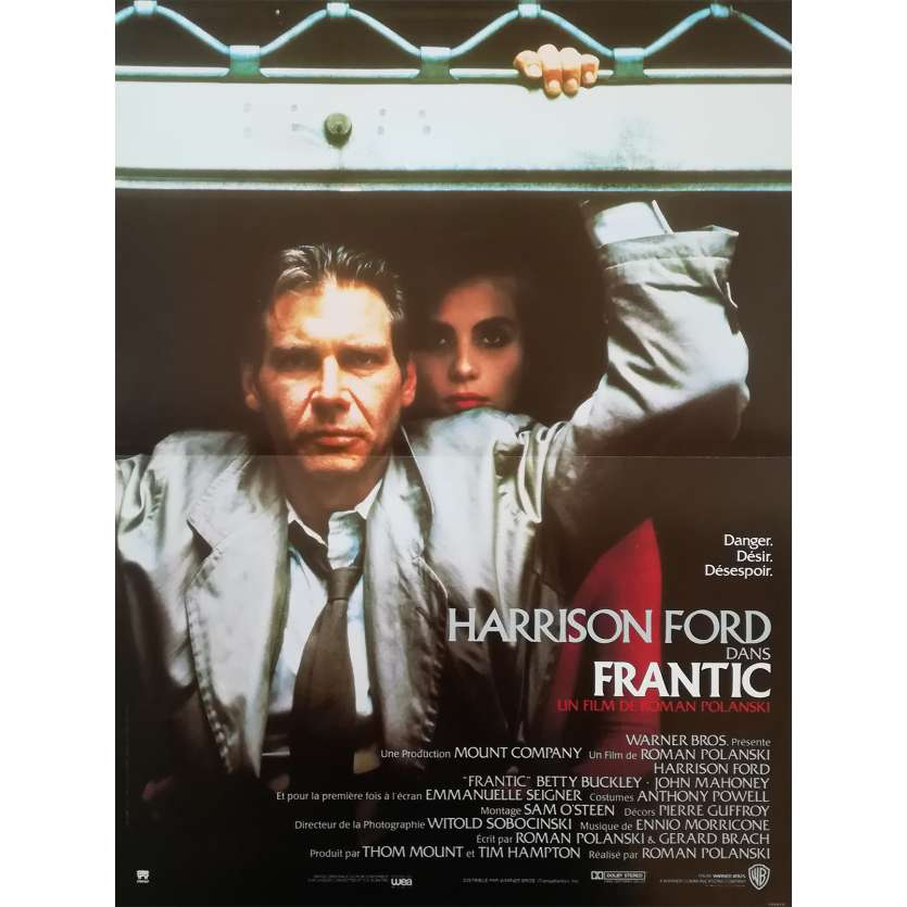 FRANTIC Original Movie Poster - 15x21 in. - 1988 - Roman Polanski, Harrison Ford