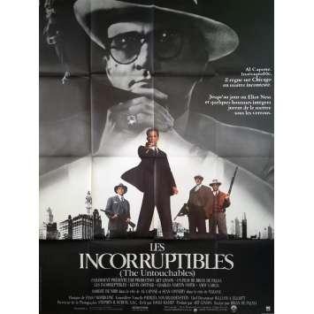 LES INCORRUPTIBLES Affiche de film - 120x160 cm. - 1987 - Kevin Costner, Brian de Palma