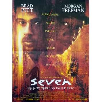 SEVEN Original Movie Poster - 15x21 in. - 1995 - David Fincher, Brad Pitt