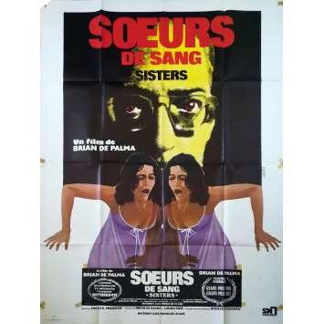 SŒURS DE SANG Affiche de film - 120x160 cm. - 1970 - Margot Kidder, Brian de Palma
