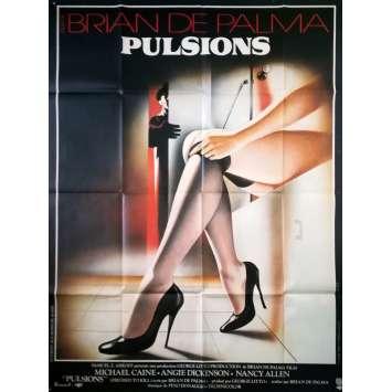 PULSIONS Affiche de film - 120x160 cm. - 1980 - Michael Caine, Brian de Palma