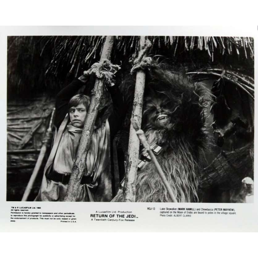 RETURN OF THE JEDI 2 8x10 stills '83 George Lucas classic, Mark Hamill tied up w/Chewbacca!