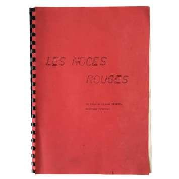 LES NOCES ROUGES Scénario Signé 21x30 - 1973 - Stéphane Audran, Claude Chabrol