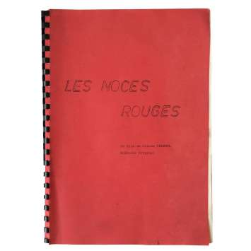 RED WEDDING French Signed Movie Script 9x12 - 1973 - Claude Chabrol, Stéphane Audran